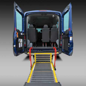 minibus with rear wheelchair access